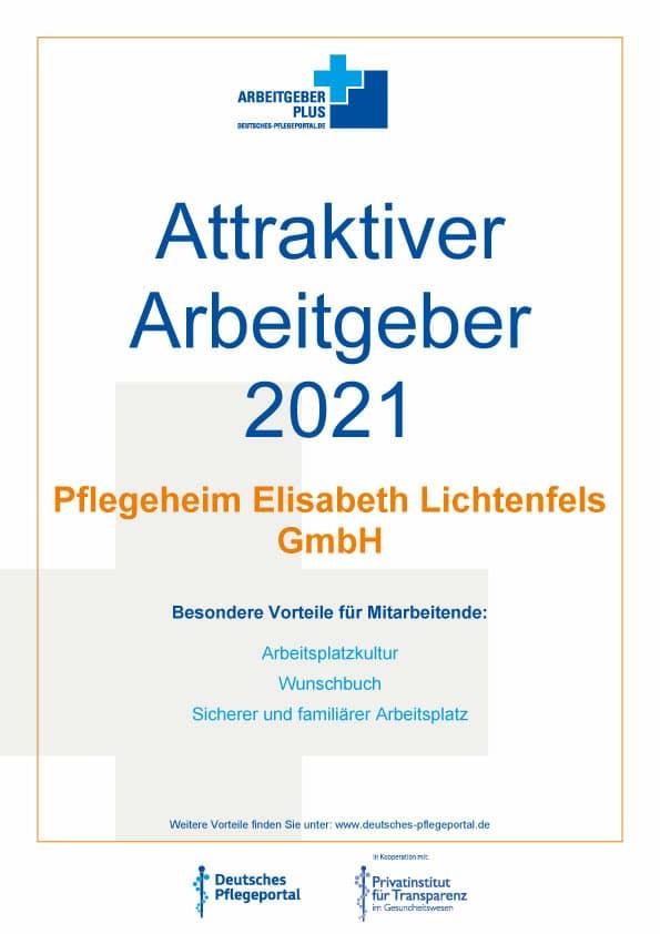 Karriere beim attraktiven Arbeitgeber 2021 – Pflegeheim