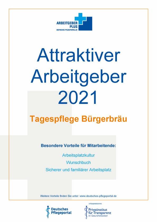 Karriere beim attraktiven Arbeitgeber 2021 – Tagespflege